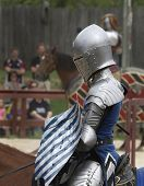 Proud Knight On A Horse Ready To Joust