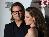 "LOS ANGELES - DEC 8:  Brad Pitt & Angelina Jolie ""In The Land of Blood and Honey"" Los Angeles Premie"