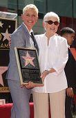 LOS ANGELES - AUG 03:  Ellen Degeneres & mom Betty arriving to Walk of Fame - ELLEN DEGENERES  on August 03, 2012 in Hollywood, CA
