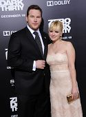 LOS ANGELES - DEC 19:  Chris Pratt & Anna Faris arrives to