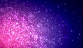 Purple colour bokeh abstract light background. Illustration
