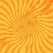 Grunge Sunburst Swirl