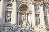 Trevi Fountain in Rome - Italy. (Fontana di Trevi) is one of the most famous landmark in Rome. poster