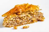Homemade baklava with walnuts