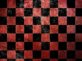 Grunge Red Checkers