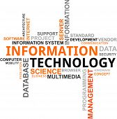 stock photo of informatics  - A word cloud of information technology related items - JPG