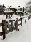Old Barn In Snow