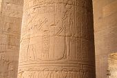 image of aswan dam  - Columns with hieroglyphics at the Temple of Philae in Egypt - JPG