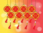 Happy Chinese New Year - Xin Zheng Ru Yi Xin Nain Fa Cai - Chinese Auspicious Word