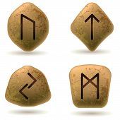 foto of rune  - Runes Engraved on Stone - JPG