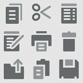 Document web icons greyscale icons