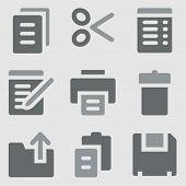 Document web icons greyscale icons
