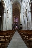 Gothic cathedral of Saint Gatien in Tours; Loire Valley; France