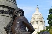 US Capitol, Washington DC, detail from The James A. Garfield Monument