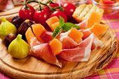 Prosciutto di Parma with melon and figs