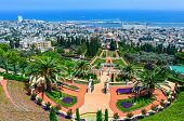 A Beautiful Picture Of The Bahai Gardens In Haifa Israel.