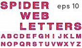 Spider web letters