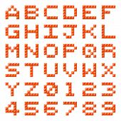 Pixel Block Alphabet Letters And Numbers