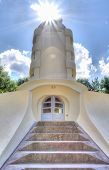 stock photo of einstein  - The Einstein tower in Potsdam at the science park in HDR - JPG