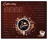 A Coffee Menu Design For Cafe And Coffeehouse