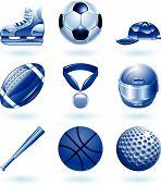 Brilhante esportes ícone conjunto série