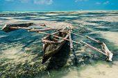 boat in a beach of Zanzibar