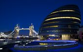 City Hall, Tower Bridge And The River Thames In London