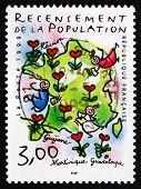 Postage Stamp France 1999 Map Of France