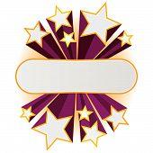 Star Banner. Vector.