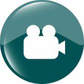 Video Camera Icon Web App Button