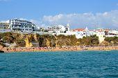 picture of vilamoura  - Beach Peneco Albufeira Algarve Portugal summer sea - JPG
