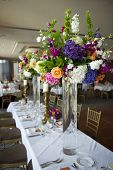 Head Table With Florals