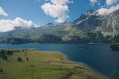 stock photo of engadine  - European alpine landscape - JPG