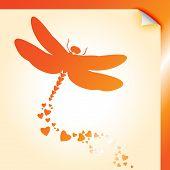 Dragongly Decal Orange