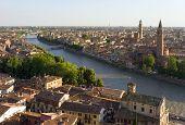 Aerial view of Verona, Italy, Europe