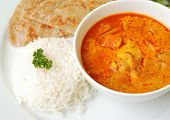 Chicken Curry With Rice And Roti