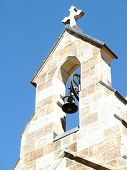 Bell Tower On Old Stone Church In Brisbane Queensland Australia