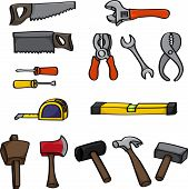 Cartoon Building Tools Set