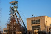 Old Mining Tower On Sunny Day