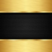 stock photo of iron star  - Abstract golden background with metallic speaker grill - JPG