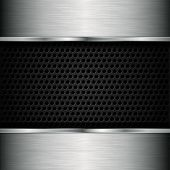 pic of iron star  - Abstract metallic background with speaker grill - JPG