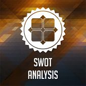 stock photo of swot analysis  - SWOT Analysis Concept - JPG