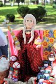 KRASNODAR, RUSSIA - SEPTEMBER 28 - Figurine of russian Empress Catherine II, Krasnodar city day on 2