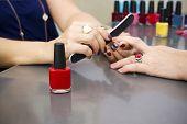 Manicure At The Beauty Salon