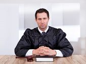 Portrait Of Serious Male Judge