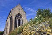 Parthenay ancient gothic church, Poitou-Charentes, France