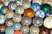 pic of pottery  - moroccan souk crafts souvenirs in medina - JPG