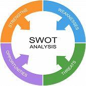 Swot Analysis Word Circle Concept
