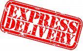 Grunge express delivery rubber stamp, vector illustration
