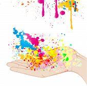 Splashing colours of joy